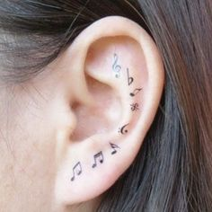 32 music note tattoos to inspire. Make sweet music with these music note tattoo body art designs. A musical note tattoo will perfect your style. Mini Tattoos, Great Tattoos, Trendy Tattoos, Beautiful Tattoos, Body Art Tattoos, Small Tattoos, Tattoos For Women, Tatoos, Stylish Tattoo