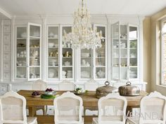 cote+maison+dining+room+belgium+cabinets+cane+back+chairs+chandelier+cococozy.jp… cote+maison+dining+room+belgium+cabinets+cane+back+chairs+chandelier+cococozy. Farm Dining Table, Dining Area, Farm Tables, Rustic Table, Pine Table, Wood Tables, Kitchen Dining, Beautiful Dining Rooms, Beautiful Kitchens