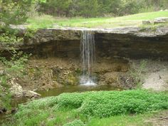 Alcove Springs, Kansas ~ Travelers on the Oregon Trail carved the name on Alcove Springs on the surrounding rocks and trees...