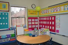 My New Classroom! Cute 1st Grade Classroom Setup! She has lots more pics and ideas on her blog: snippetsbysarahblogspot