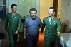 For a Venice art exhibit, Chinese artist Ai Weiwei re-created scenes from his 81-day detention in 2011.