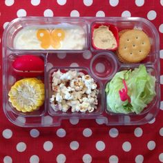 Some great lunchbox filler ideas from @little_bento  Yumbox is now available to buy in the UK via www.yumbox-uk.co.uk
