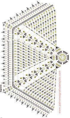ergahandmade: Crochet Tunic + Video Tutorial + Diagram + F Filet Crochet, Crochet Doily Diagram, Crochet Poncho Patterns, Crochet Tunic, Crochet Doily Patterns, Crochet Mandala, Crochet Pillow, Crochet Chart, Thread Crochet