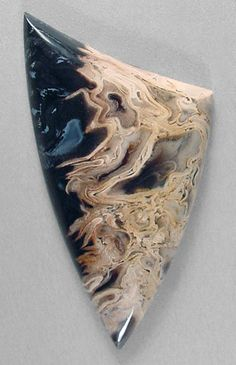 Sam Silverhawk's cabochon of birdseye petrified palm root, fabulous GEM material from Sumatra