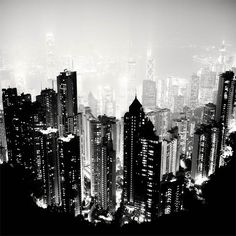 Hong Kong - Photograph by MARTIN SAVARS - bw cityscape landscape urban city Photography Essentials, City Photography, Landscape Photography, Couple Photography, Black And White Tumblr, Black And White City, Ansel Adams, Photo D'architecture, Edward Weston
