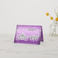 Shop Purple Sparkle Princess Theme Thank You Card created by Zizzago. Purple Sparkle, Princess Theme, Custom Thank You Cards, Your Cards, Prints, Color, Colour, Purple Glitter, Colors
