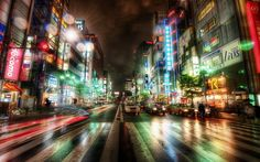 Road Tokyo City At Night Wallpaper HD 1024x640