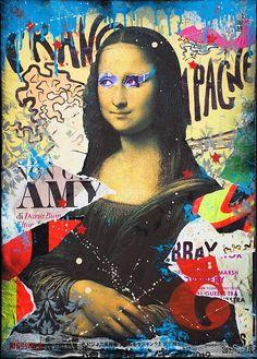 Graffiti Art Wall Freedom Of Expression| Serafini Amelia| Mona Lisa-Artist: Alessio-b