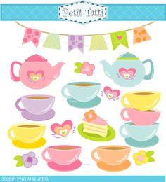 ON SALE tea party clip art , teapot, tea cup, pink teapot clip art, tea clipart cake, girl birthday clip art by petittatti on Etsy https://www.etsy.com/uk/listing/513914527/on-sale-tea-party-clip-art-teapot-tea