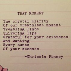 That Moment by Chrissie Pinney
