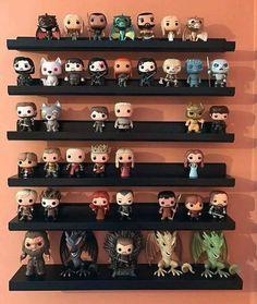 Game of Thrones Funko POP Collection Funko Pop Shelves, Funko Pop Display, Book Shelves, Display Shelves, Funko Game Of Thrones, Pop Game Of Thrones, Game Of Thrones Bedroom, Geek Decor, Funko Pop Toys