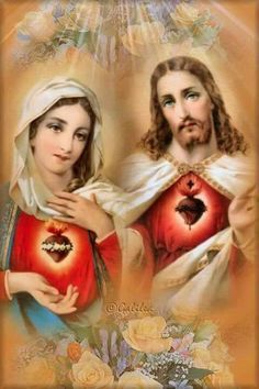 Sacred Heart of Mary pray for us, Sacred Heart of Jesus hear our prayer