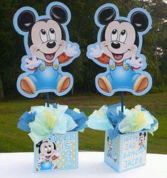 : Fiestas Infantiles, Decoración Mickey Mouse Bebé, Centros de Mesa