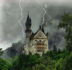 Lightning Strikes, Neuschwanstein Castle, Germany More