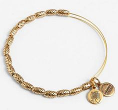 Alex and Ani Bracelet. Perforated details are in this season & if your looking for a gift for  the trendanista, see all of our perforated gift picks and gift the trend! http://blog.gifts.com/gift-trends/gift-the-trend-perforated-details #Fashion #FashionTrends #GiftTheTrend #TrendyGifts #GiftsForTheTrendanista