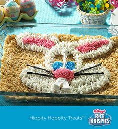 Cool idea – no need to decorate each individual Rice Krispies Treat™ for Easter. The kids can just decorate the top of the pan!