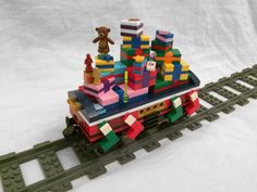 Post with 8643 views. Christmas Cars, Lego Christmas Train, Lego Christmas Ornaments, Lego Christmas Village, Lego Winter Village, Xmas, Christmas Decorations, Lego Gingerbread House, Gingerbread Train