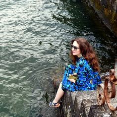 Stunning water-color printed dress   vintagetraffic   #charlotteolympia #stuartweitzman #liketkit www.liketk.it/bNEi @liketkit