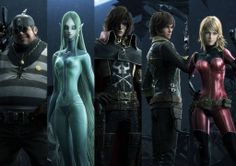 Yulian, Mimay, Harlock, Logan & Kei (Space Pirate Captain Harlock)