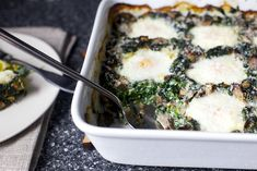 baked eggs with spinach and mushrooms by smitten, via Flickr