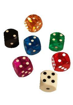 Backgammon Dice 5/8 rounded #dice #lasvegas #colors #rounded  www.gamblersgeneralstore.com