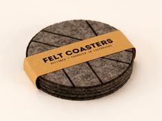 felt_coasters_packaging Felt Coasters, Properties Of Materials, Architecture Design, Packaging, Pure Products, Material Properties, Architecture Layout, Wrapping, Architecture Illustrations