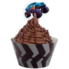 Monster Truck Cupcake Wrappers with Picks (12 each)
