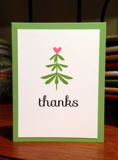 Tree thanks with a Clearly Besotted stamp set