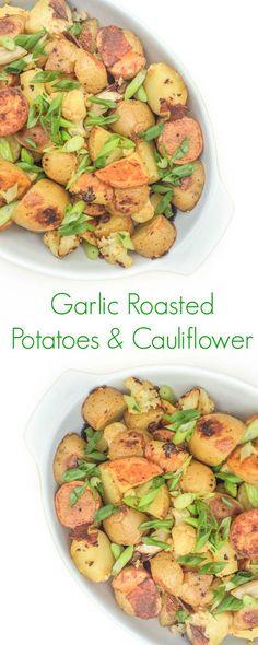 Roasted potatoes and cauliflower
