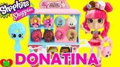 Shopkins Donatina's Donut Delights Shoppie Doll Playset with 4 Mini Donu...