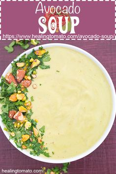 A simple vegetarian Creamy Avocado Soup made with delightful. A simple vegetarian Creamy Avocado Soup made with delightful ingredients and perfect for those cold winter nights. Made in 20 minutes. Best Soup Recipes, Chowder Recipes, Healthy Soup Recipes, Avocado Recipes, Vegetable Recipes, Fall Recipes, Favorite Recipes, Dinner Recipes, Chili Recipes