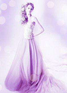 dreaming purple wedding dress~