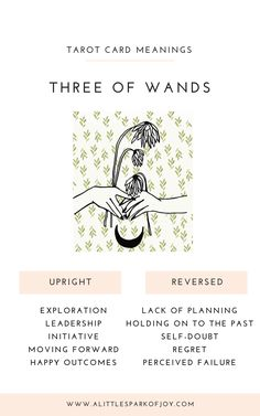 Three of Wands is a 'yes' card and is all about embracing your inner visionary. It urges you to go the distance and show the courage to realize your dreams. Three Of Wands, Rider Waite Tarot Cards, Tarot Cards For Beginners, Tarot Astrology, Magick, Witchcraft, Tarot Card Meanings, John Smith, Tarot Spreads