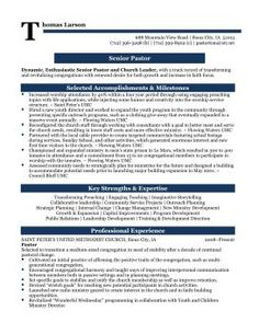 24 Best Pastor Resumes Images Resume Design Templates Wings
