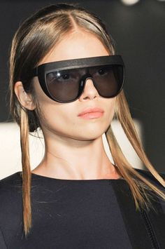 Oversized UV sunglasses are no longer reserved for the senior set, they popped up all over the runways from Michael Kors to Chanel.     Zero + Maria Cornejo Sunglasses - Spring 2013 Accessories Trends - Harper's BAZAAR