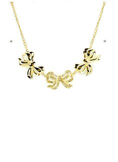 Bowtie Necklace and Earring Set