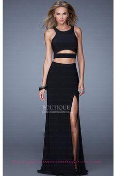 Black Sheath/Column Elastic Satin Prom Dress 2016