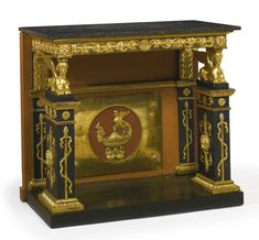 A Gustav IV Swedish Neoclassical ebonized and parcel-gilt console table by Pehr Gustav Bylanders circa 1810 | lot | Sotheby's