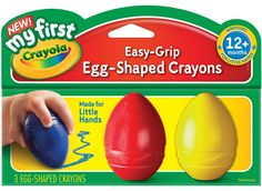 Non-Candy Easter Basket Ideas for Baby/Toddlers: Egg Crayons