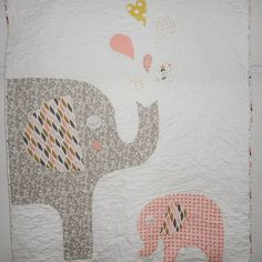 Mom and baby Elephant Baby QuiltElephant Nursery DecorCustom   Etsy Elephant Nursery Decor, Nursery Themes, Mom And Baby Elephant, Expecting Mom Gifts, Baby Boy Or Girl, Baby Quilts, Gifts For Mom, Balloons, Handmade