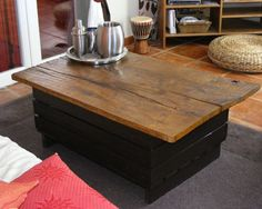 Peindre les tables en bois sur pinterest table repeinte for Table ancienne repeinte