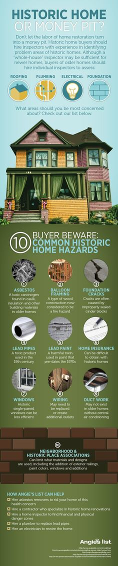 Historic home or money pit? #infographic
