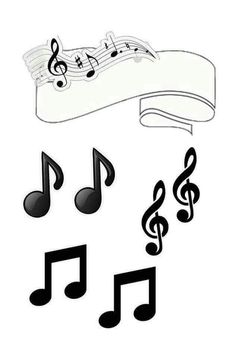 Music in Black and White Free Printable Quinceanera Cake Toppers. Beatles Party, The Beatles, Party Printables, Free Printables, Bolo Musical, Zumba Party, Music Cakes, Candy Bar Labels, Quinceanera Cakes