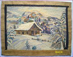 Snow Scenes, Winter Scenes, Rug Hooking Patterns, Rug Patterns, Punch Needle Patterns, Hand Hooked Rugs, Traditional Rugs, Rug Making, Quilt Blocks