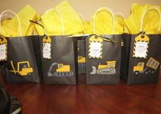 Under Construction Baby Shower Decorations Construction Party Loot Bags for the Adults Cleaning Up 2nd Birthday Boys, 2nd Birthday Party Themes, Birthday Gifts For Boys, Birthday Ideas, Construction Party Decorations, Construction Birthday Parties, Party Bags, Loot Bags, Ideas Party