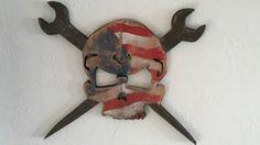 Proud American Ironworker Skull N Spud by ReclaimedPalletTrend