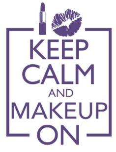 Where are my makeup lovers?  How cute!!   #KeepCalmAndMakeupOn #Makeup