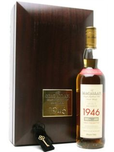 Macallan 1946 / 52 Year Old : Buy Online - The Whisky Exchange - This Macallan 1946 is rather unusual, in that it was made with peated malt due to the high post-war prices of coal.  It also happens to be one of the greatest Macallans ever released in our opinion...