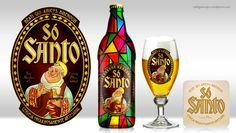 Os rótulos de cervejas artesanais são sempre um luxo. São normalmente espaços onde ilustradores e designers se divertem e podem deixar a criatividade fluir.