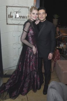 Lucy Boynton and Rami Malek attend Netflix 2019 SAG Awards after party at Sunset Tower Hotel on January 2019 in West Hollywood, California. Get premium, high resolution news photos at Getty Images Celebrity Couples, Celebrity Style, Lucy Boynton, Rami Malek, Sag Awards, Matches Fashion, People Magazine, International Film Festival, Celebs